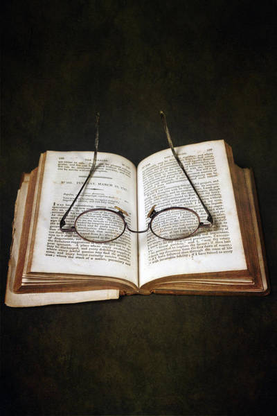 Wall Art - Photograph - Book With Glasses by Joana Kruse