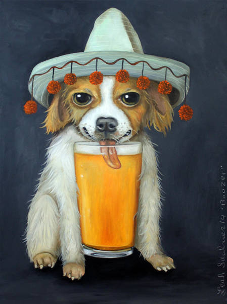 Sombrero Painting - Boozer by Leah Saulnier The Painting Maniac