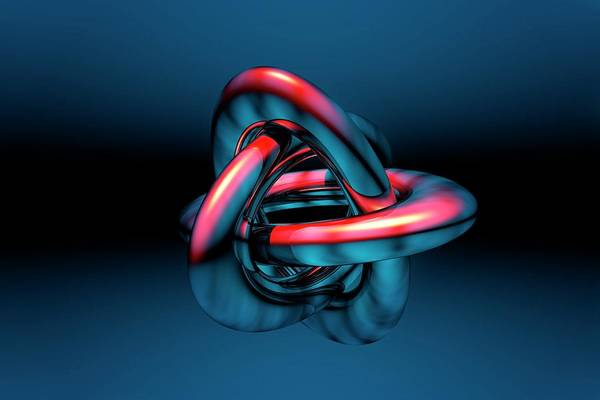 Knot Photograph - Borromean Rings by Carol & Mike Werner
