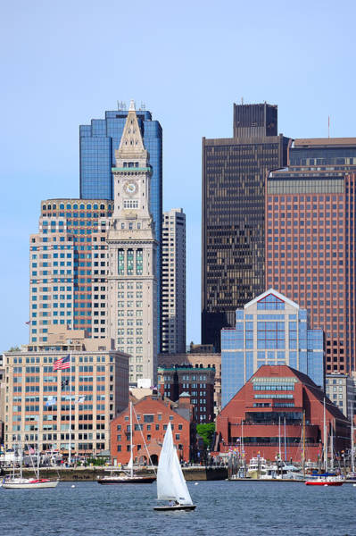 Photograph - Boston Architecture Closeup by Songquan Deng