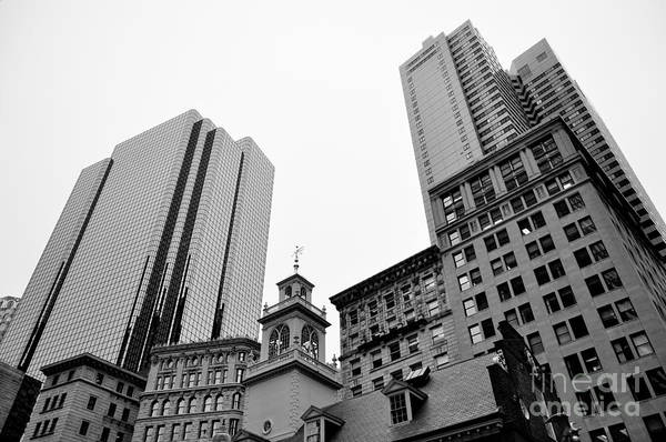 Photograph - Boston Cityscape Black And White by Staci Bigelow