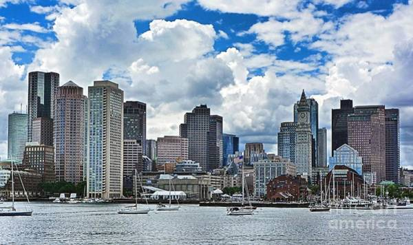 Photograph - Boston Harbor by Julia Springer