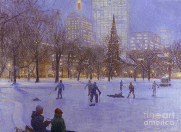 Wall Art - Painting - Boston Twilight Players by Candace Lovely