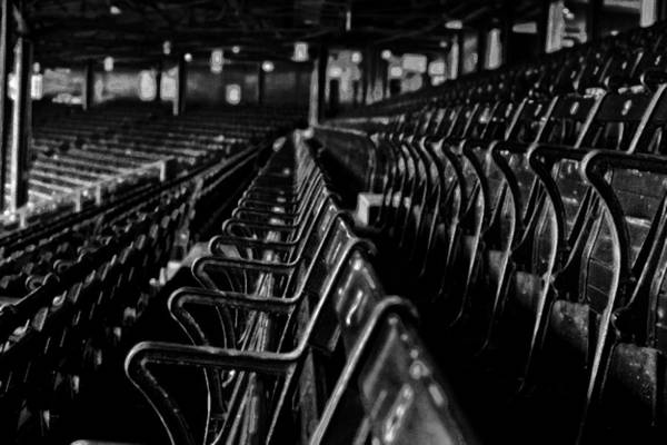 Bostons Fenway Park Baseball Vintage Seats Art Print
