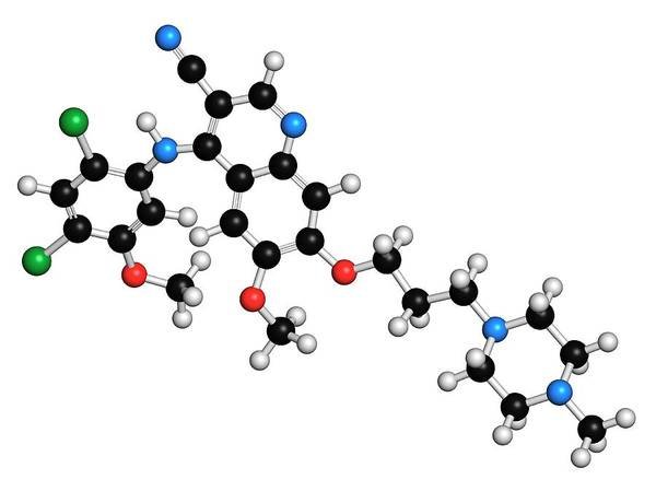 Chronic Wall Art - Photograph - Bosutinib Leukemia Drug Molecule by Molekuul