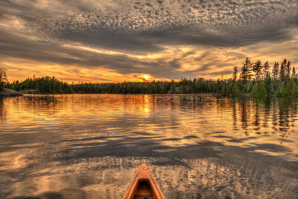 Bwcaw Photograph - Boundary Waters Sunset  by Shane Mossman