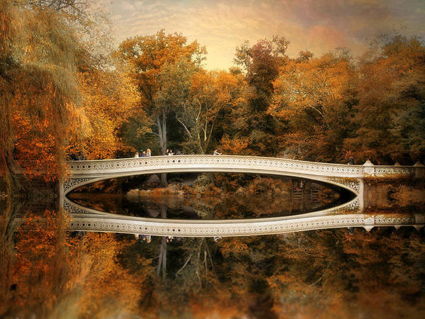 Photograph - Bow Bridge Reflections by Jessica Jenney