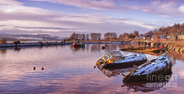 Clydebank Photograph - Bowling Harbour Panorama 02 by Antony McAulay