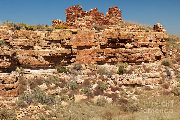 Photograph - Box Canyon Dwellings At Wupatki National Monument by Fred Stearns