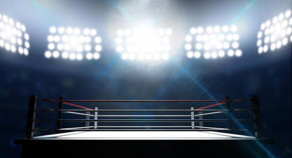 Ring Digital Art - Boxing Ring In Arena by Allan Swart