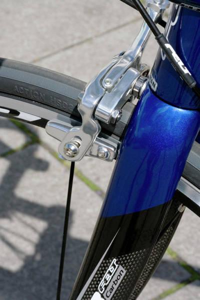 Brake Wall Art - Photograph - Brake System On Bicycle Wheel by Adam Hart-davis/science Photo Library