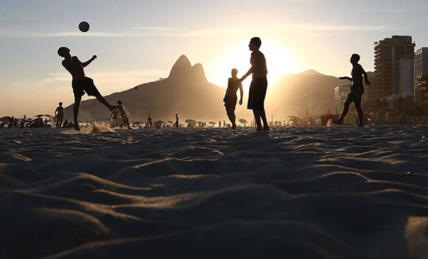 Horizontal Photograph - Brazils Various Forms Of Soccer by Mario Tama