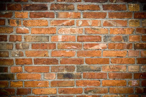 Red Brick Photograph - Brick Wall by Frank Tschakert