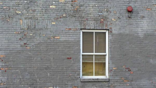Photograph - Brick Wall Window by Anita Burgermeister