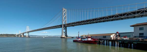 Fireboat Wall Art - Photograph - Bridge Across A Bay, Bay Bridge, San by Panoramic Images