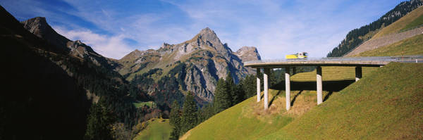 Wall Art - Photograph - Bridge On Mountains, Mountain Pass by Panoramic Images