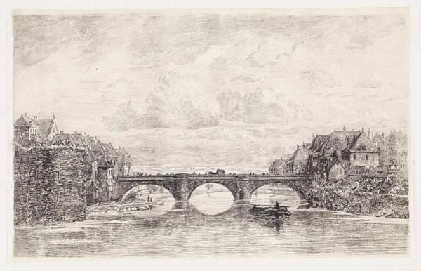 Feb Wall Art - Drawing - Bridge Over The Fulda In Kassel, Germany by Artokoloro