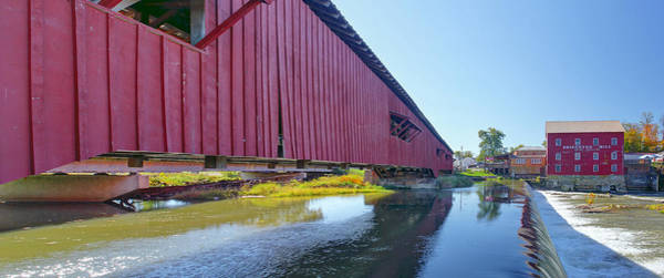 Photograph - Bridgeton Bridge And Mill by Harold Rau
