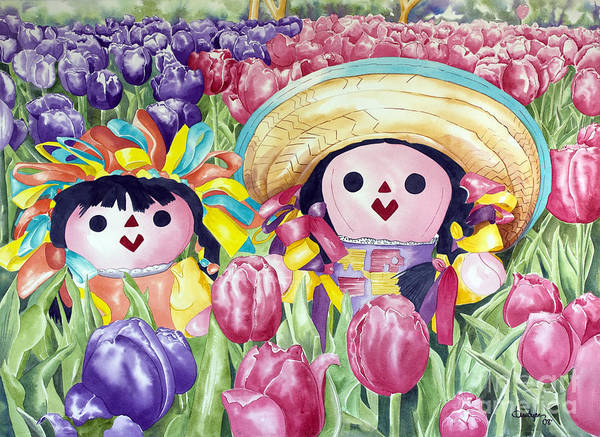 Painting - Brings May Flowers by Kandyce Waltensperger