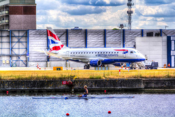 Wall Art - Photograph - British Airways And Single Scull by David Pyatt