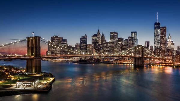 Photograph - Brooklyn Bridge At Dusk by Mihai Andritoiu