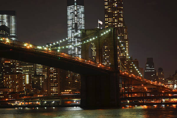 Photograph - Brooklyn Bridge From Empire Fulton Ferry State Park by Toby McGuire