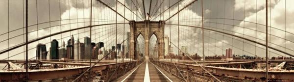 Wall Art - Photograph - Brooklyn Bridge (sepia) by Shelley Lake