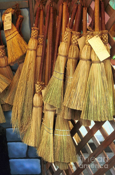 Broom Photograph - Brooms For Sale by David Smith