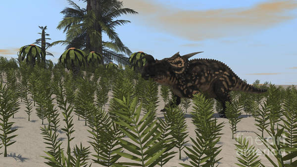 Digital Art - Brown Einiosaurus Grazing A Desert by Kostyantyn Ivanyshen