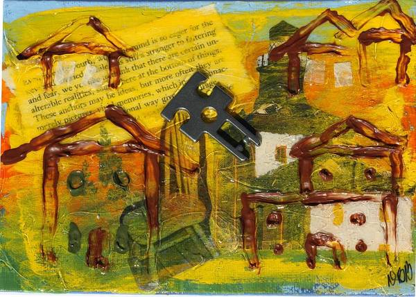 Mixed Media - Brown House No. 2 by Dawn Boswell Burke