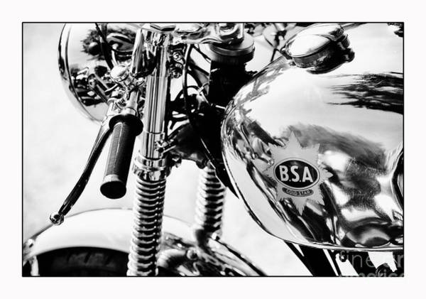 Photograph - Bsa Cafe Racer Detail by Tim Gainey