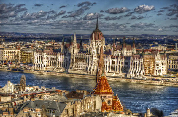 Eastern Europe Digital Art - Buda Parliament  by Nathan Wright