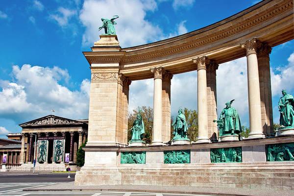 Buda Photograph - Budapest, Hungary, Heroes Square by Miva Stock
