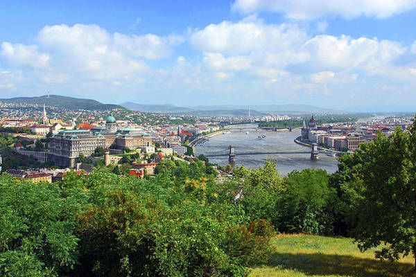 Danube Photograph - Budapest, Hungary, Scenic View by Miva Stock