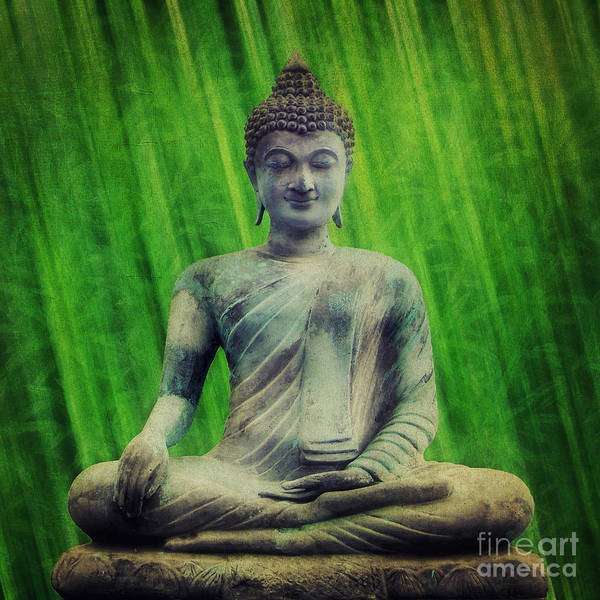 Photograph - Buddha by Angela Doelling AD DESIGN Photo and PhotoArt