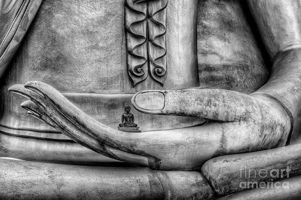 Buddhist Temple Wall Art - Photograph - Buddha Hand by Adrian Evans