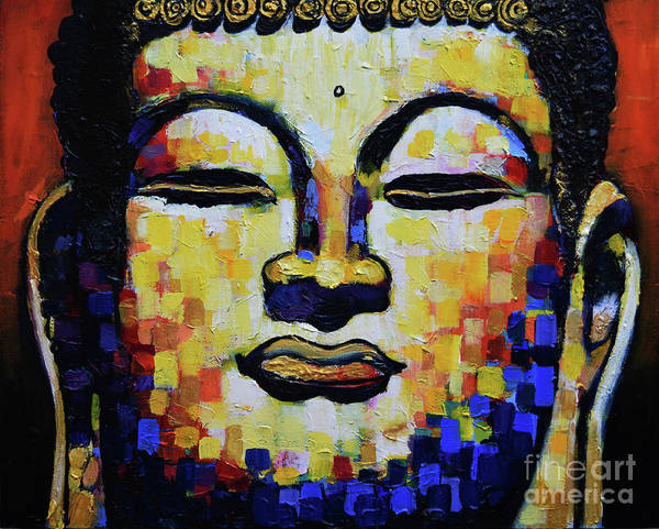 Dzogchen Painting - Buddha Head by Stephen Humphries