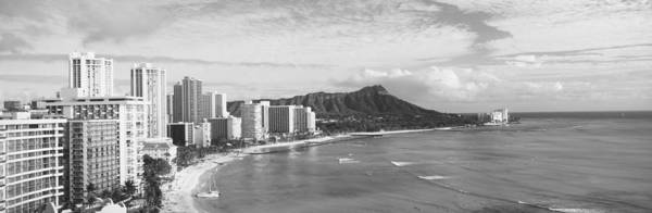 Waikiki Photograph - Buildings At The Coastline by Panoramic Images