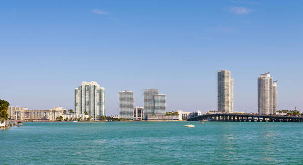 Dade Photograph - Buildings At The Waterfront, Miami by Panoramic Images