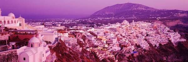 Leisurely Photograph - Buildings, Houses, Fira, Santorini by Panoramic Images