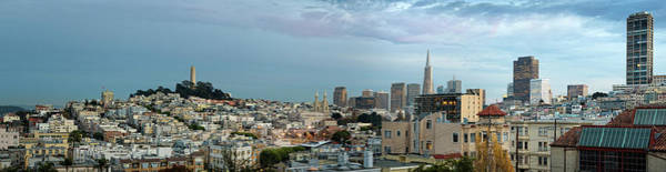 Coit Tower Photograph - Buildings In A City, Coit Tower, San by Panoramic Images