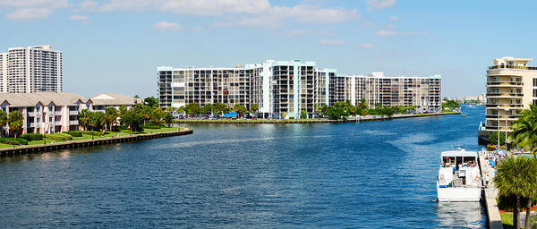 Dade Photograph - Buildings On Intracoastal Waterway by Panoramic Images