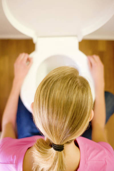 Toilet Photograph - Bulimia by Ian Hooton/science Photo Library