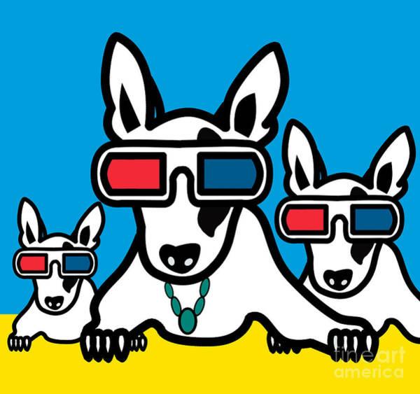 Kid Wall Art - Digital Art - Bull Terrier by Mark Ashkenazi