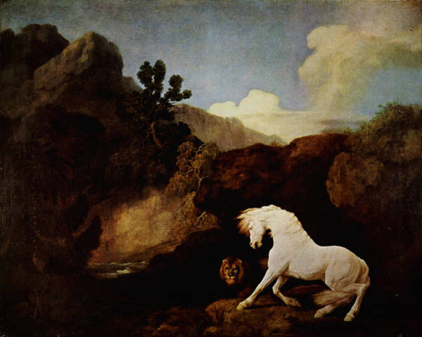 Painting - Horse Frightened By A Lion by Celestial Images