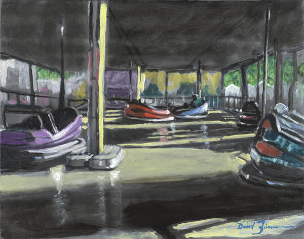 County Fair Painting - Bumpers by David Zimmerman