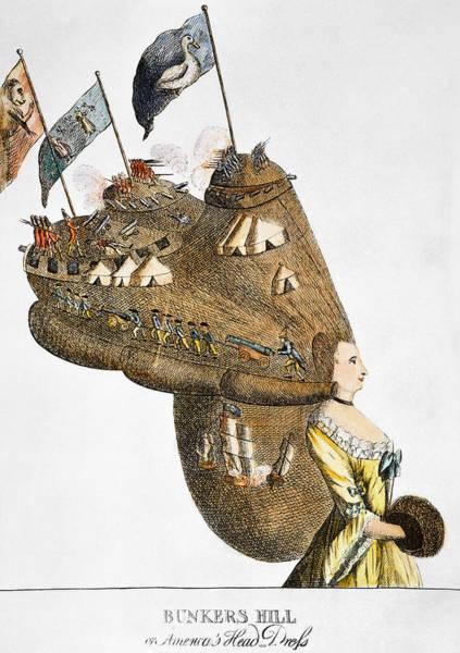 Wall Art - Photograph - Bunker Hill: Cartoon, 1776 by Granger