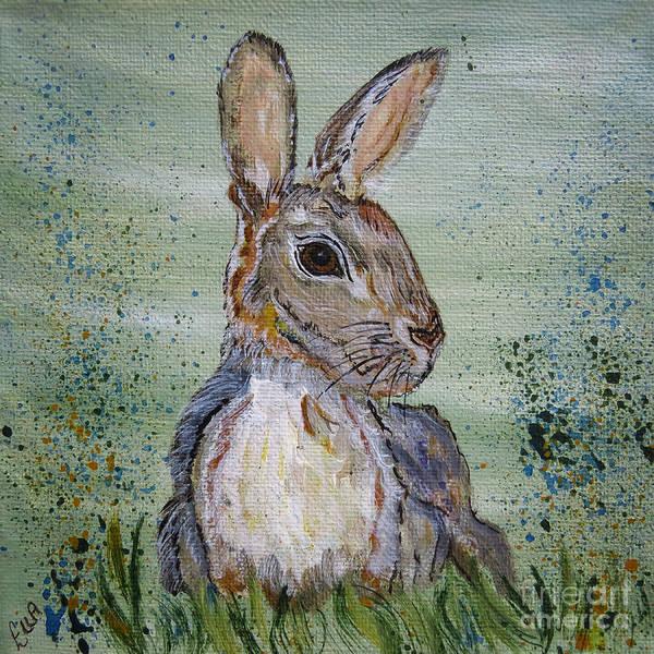 Wall Art - Painting - Bunny Rabbit by Ella Kaye Dickey