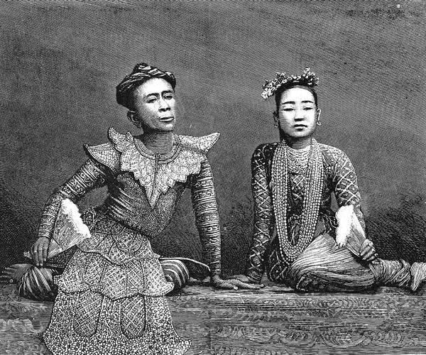 Wall Art - Painting - Burma Actors, 1879 by Granger