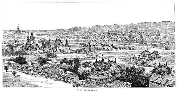 Wall Art - Painting - Burma Mandalay, 1885 by Granger